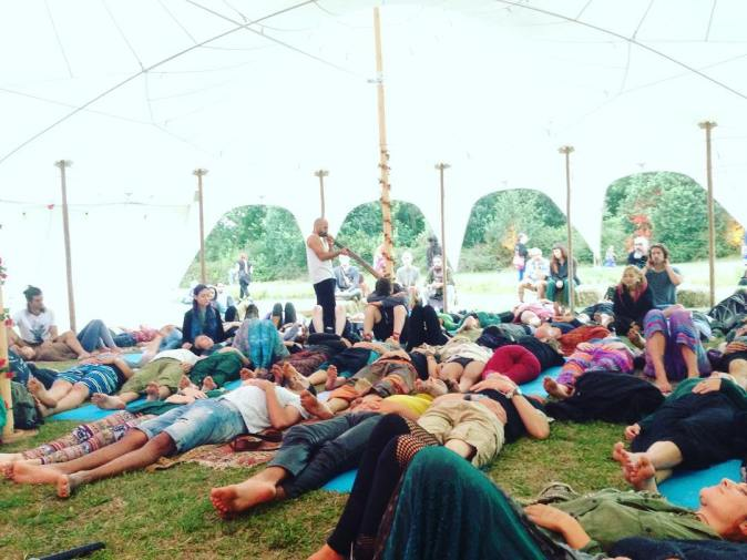 Didgeridoo healing at Yoga beats Project at PSY fi festival